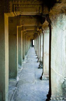 Free Ancient Corridor At Angkor, Cambodia Stock Photos - 19358173