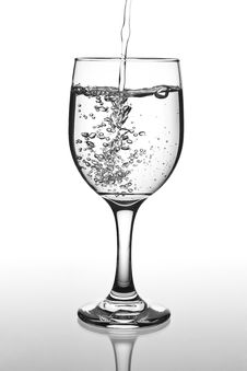 Free Full Glass Of Water Royalty Free Stock Image - 19358406
