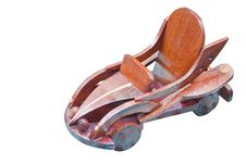 A Handmade Wooden Car Royalty Free Stock Photo