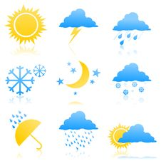 Free Weather Icons2 Royalty Free Stock Photography - 19359157