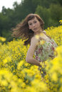 Free Woman Running In Field Royalty Free Stock Photos - 19361728