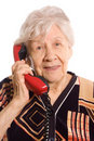 Free Elderly Woman Speaks On The Phone Stock Images - 19361884
