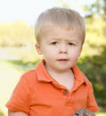 Free Cute Young Boy Portrait In The Park Royalty Free Stock Image - 19365546
