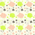 Free Seamless Pattern With Flowers Royalty Free Stock Photography - 19367107