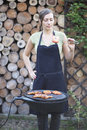 Free Barbecue Woman Royalty Free Stock Photos - 19369978