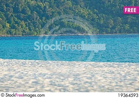 Free Sand Sea And Tree Stock Photos - 19364593