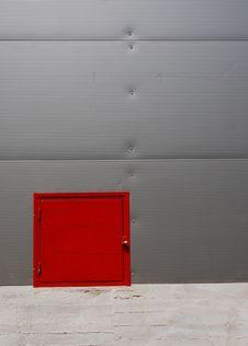 Small Red Door Stock Photo