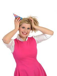 Free Pretty Party Female Celebrating Birthsday . Stock Photography - 19361052