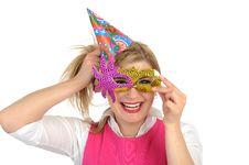Free Pretty Party Female Celebrating Birthsday . Royalty Free Stock Photo - 19361065