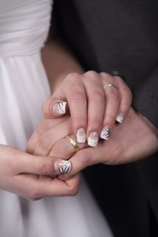 Free Bride And Groom - Hands Stock Images - 19361074