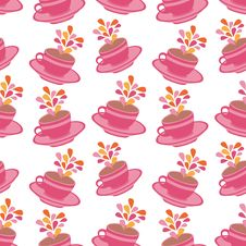Free Seamless Cups Pattern Stock Image - 19361081
