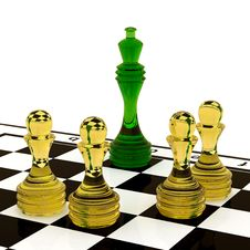 Free Glass Chess Stock Image - 19361151