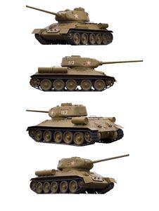 Soviet Tank T-34-85 Stock Photo