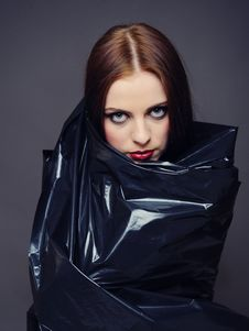Beautiful Fashion Model With Elegant Make-up Stock Photos