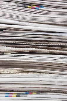 Free Big Heap Of Fresh Newspapers Close Up Royalty Free Stock Photo - 19362325
