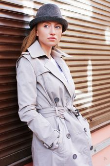 Free Woman In A Raincoat Stock Photos - 19362523