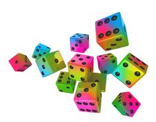 Free Color Dices Stock Photo - 19362640
