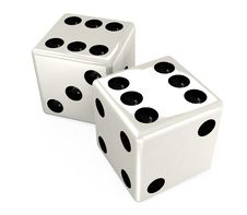 Free White Dice Stock Images - 19362654