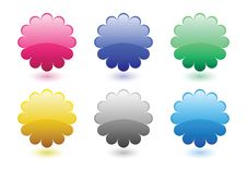 Free Floral Button Set Royalty Free Stock Images - 19362749