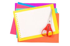 Free Colour Paper With A Paper Clip Stock Photography - 19363052
