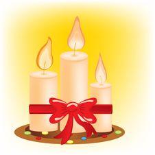 Free Festive Burning Candles Royalty Free Stock Image - 19363186