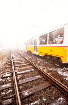 Free Tram And Tramlines In Budapest Royalty Free Stock Image - 19363216