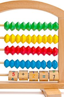 Free Children S Abacus With Color And Digital Elements Royalty Free Stock Photo - 19363635