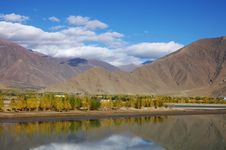 A Lake Near Lhasa City Stock Photography