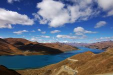 Free Yamstok Tso (lake) Royalty Free Stock Image - 19363966