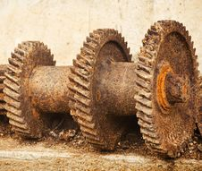 The Old Gears Stock Images