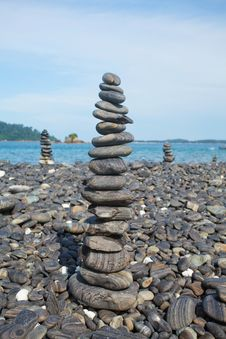 Stack Of Stones Royalty Free Stock Images