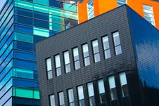 Free Colorful Modern Architecture Royalty Free Stock Photos - 19365658