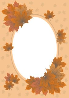 Free Foto Autumn Frame Of Maple Leaves Stock Photo - 19366100