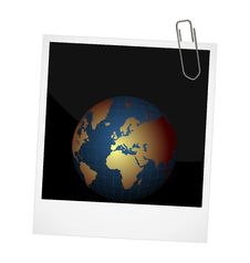 Free Planet On Photo Frame Background Stock Photos - 19366723
