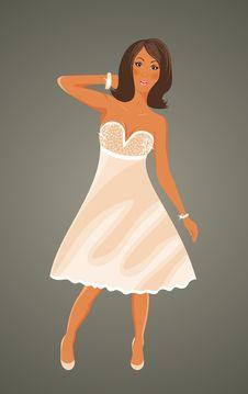 Free Pretty Girl In White Dress Stock Photos - 19366753