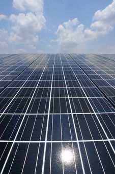 Free Solar Cell Over The Blue Sky Stock Photography - 19367562