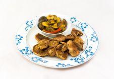Free Dried And Marinaded Mushrooms Royalty Free Stock Photo - 19367575