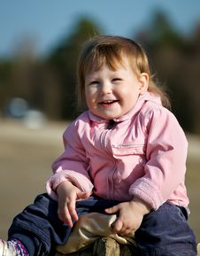 Free Happy Baby Girl In Park Stock Photo - 19368480