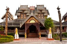 Free Wat Wood Of Chingcom Thailand Royalty Free Stock Photography - 19368507