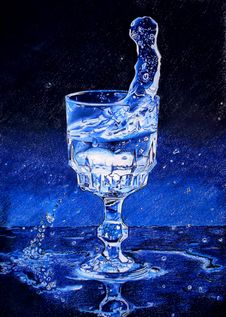 Free Water Glass Drawing Royalty Free Stock Images - 19368829