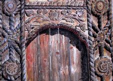 Free Medieval Wood Door Drawing Stock Images - 19368834