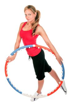 Free Woman Holding Hula Hoop Stock Photography - 19369212