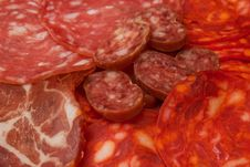 Sliced Sausage Platter Stock Photo