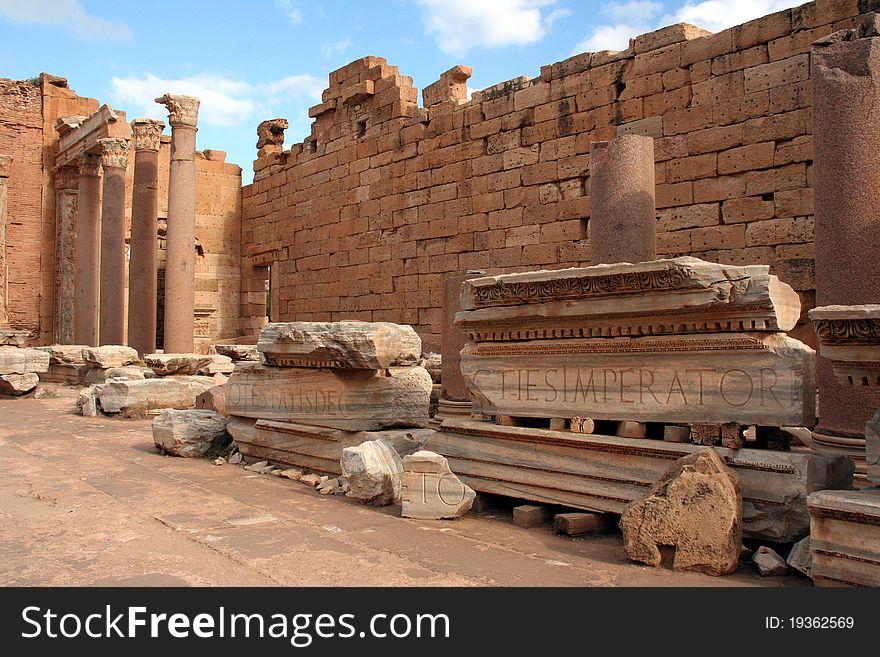 Basilica at Leptis magna Libya
