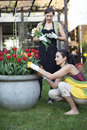 Free Two Women Gardening Royalty Free Stock Image - 19370796