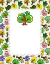 Free Cartoon Tree Card Royalty Free Stock Photo - 19374705