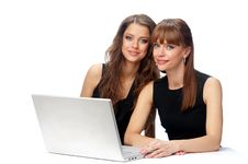 Free Two Women Working On A Laptop Stock Photography - 19370732
