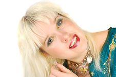 Free Blond Woman And Jewelery. Stock Photography - 19371532
