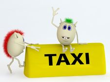 Free 3d  Model Of The Taxi Symbol With Puppets Stock Image - 19372021