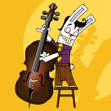 Free Rabbit Contrabass Royalty Free Stock Photo - 19372285